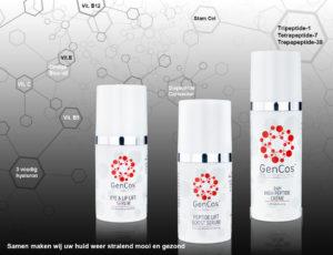 3 producten met molecule achtergrond