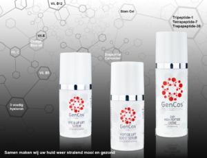 3 produkte mit molekule hintergrund